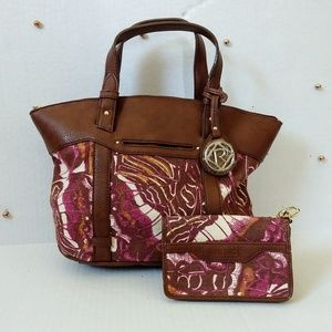 Relic Floral / Tye Dye Bag & Wallet Set